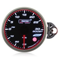 60mm Smoked Stepper Motor Touch Turbo Boost Gauge (PSI)