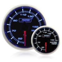 52mm Smoked Super Blue/White Water Temperature Gauge (°C)