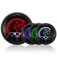 60mm Evo LCD Peak / Warning Oil Temperature Gauge