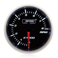 52mm Prosport Smoked Super White Rev Counter (0-10,000 rpm)