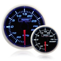 Electrical 52mm Smoked Super Blue/White Turbo Boost Gauge (PSI)