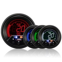 60mm Evo LCD Peak / Warning Fuel Pressure Gauge (Bar)
