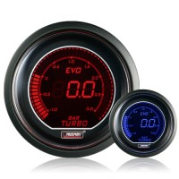 52mm Evo LCD Red / Blue Boost Gauge (Bar)