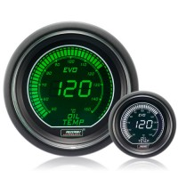 52mm Evo LCD Green / White Oil Temperature Gauge (°C)