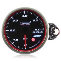 60mm Smoked Stepper Motor Touch Fuel Pressure Gauge (BAR)