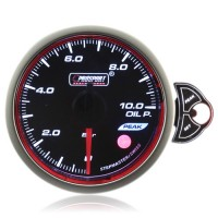 60mm Smoked Stepper Motor Touch Oil Pressure Gauge (BAR)