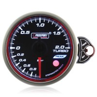 60mm Smoked Stepper Motor Touch Turbo Boost Gauge (BAR)