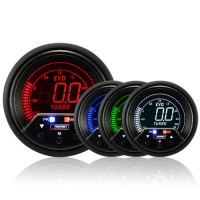 60mm Evo LCD Peak / Warning Boost Gauge (Bar)