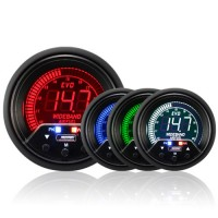 60mm Evo LCD Peak / Warning Wideband AFR Kit (With Output)