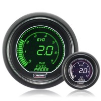 52mm Evo LCD Green / White Fuel Pressure Gauge (Bar)