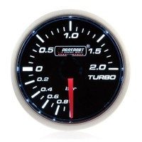 Electrical 52mm Smoked Super White Turbo Boost Gauge (BAR)