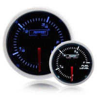 52mm Smoked Super Blue/White Fuel Level Gauge