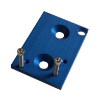 Blue CNC Mounting Bracket For MAC Type 3 Port Boost Solenoids